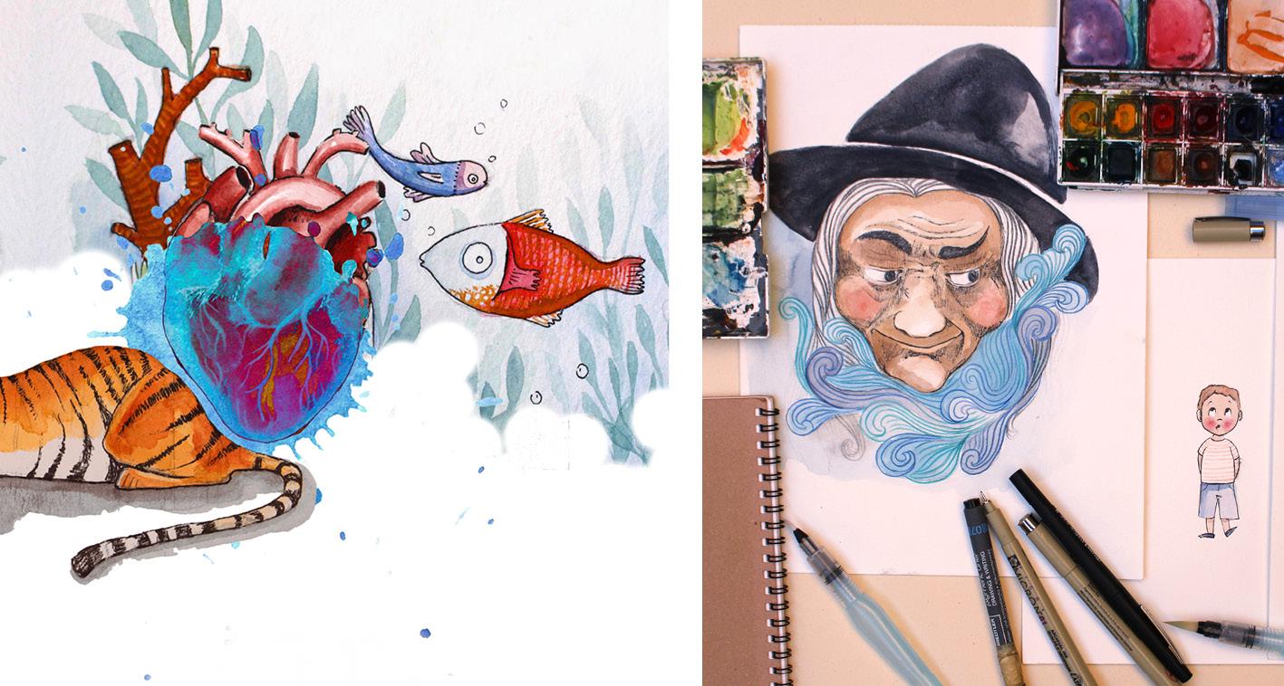 atelierba-atelier-ba-design-designer-berengere-ameslant-drome-royans-illustration-illustratrice-recueil-spectacle-musical-aquarelle-graphisme-croquis-dessin-2